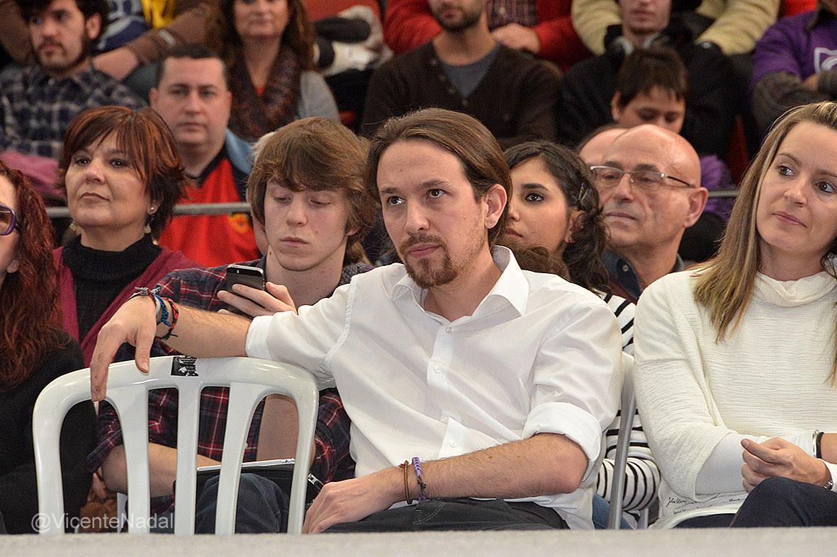Mitin Pablo Iglesias en Valencia Enero de 2015