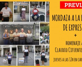 [PREVIA] Mordaza a la Libertad de Expresión + Homenaje a Claudio Cifuentes 'Cifu'