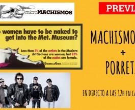 [ADELANTO] MACHISMOS 2.0 y PORRETAS EN CARNE CRUDA